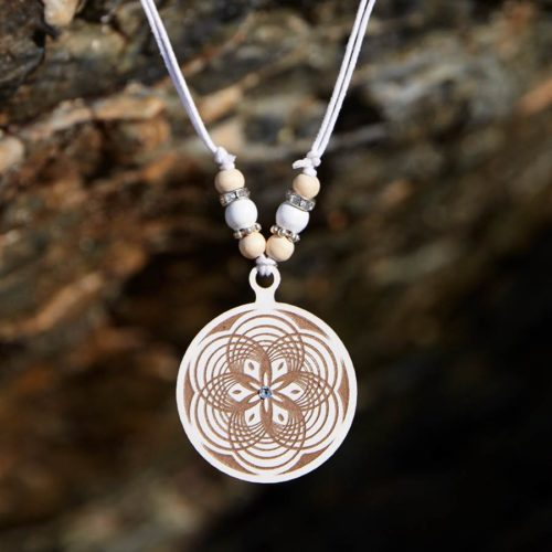 Mandala Kette Holz Sacred Geometry