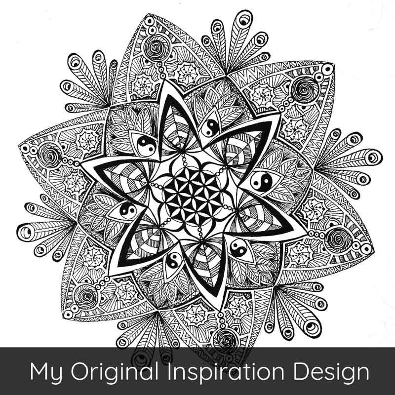 MandalArt Portugal Mandala Drawing Flower of Life