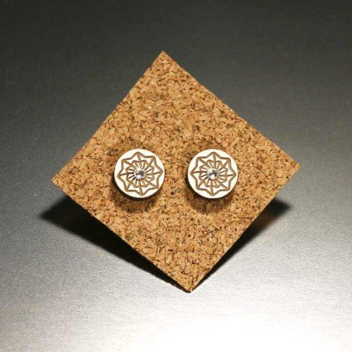 """Mandala Ohrringe aus Holz """"Flow of Life"""" MandalArt Portugal"""