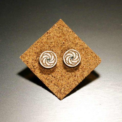 """Mandala Ohrringe aus Holz """"Simply Love"""" MandalArt Portugal"""